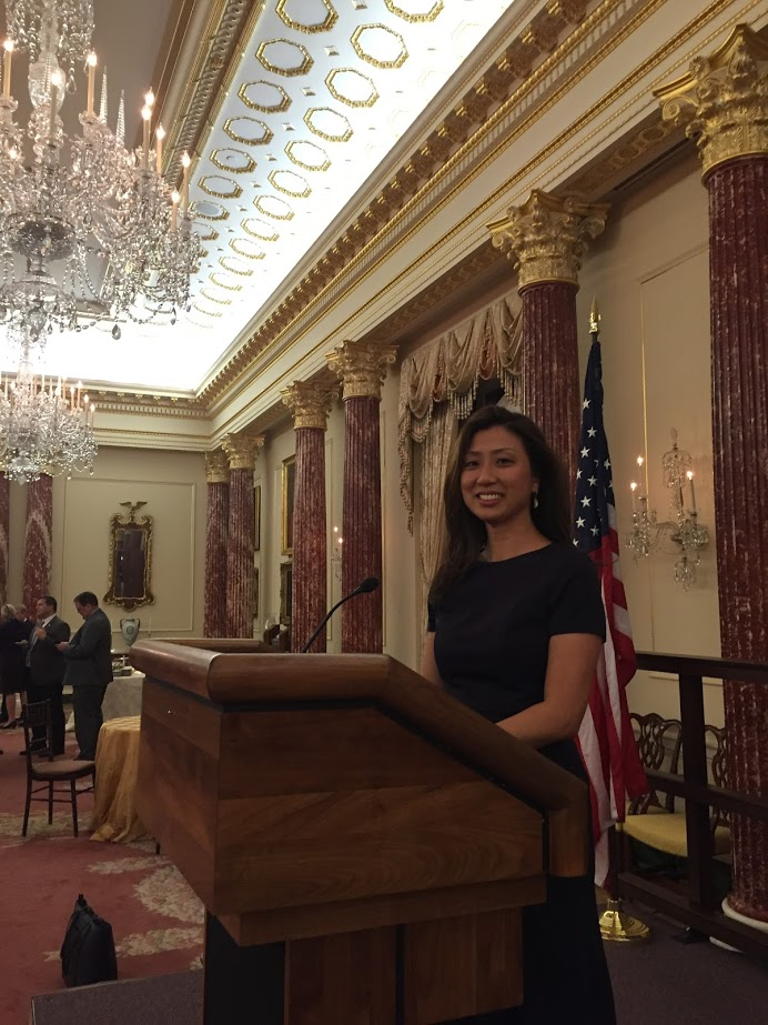 At the US State Department Diplomatic Reception Rooms