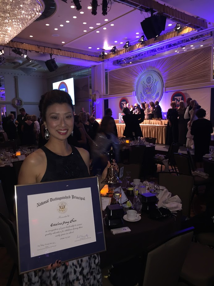 Receiving the NDP Award at the US State Department Gala